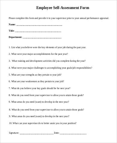 Employee Self Evaluation Essay Examples - Docoments