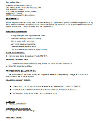 mba marketing resume cyrinesdesign - Marketing Student Resume