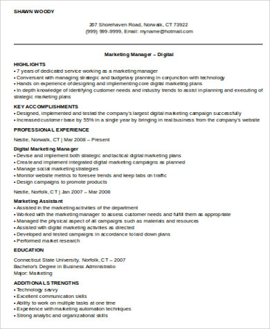 marketing manager resume examples cyrinesdesign