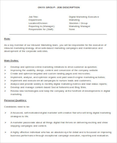 Sample Digital Marketing Resume 8 Examples In Word Pdf