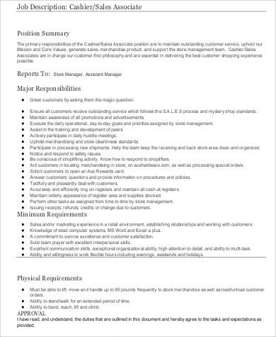 Cashier Resume Sample - 8+ Examples In Word, Pdf