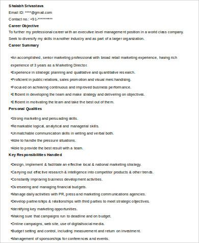 director of marketing resume1