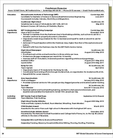sample engineer resume