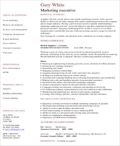 marketing resume example1