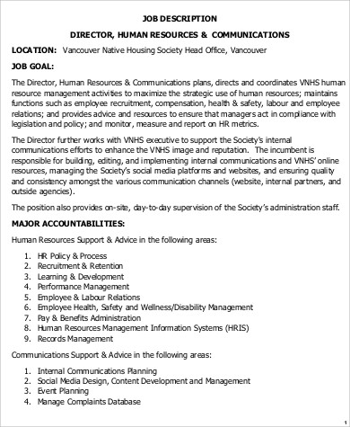 Amazing Safety Director Job Description Images  Best Resume