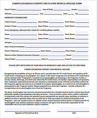 printable medical release form