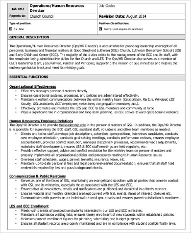 Operations Director Job Description Sample - 10+ Examples In Word, Pdf
