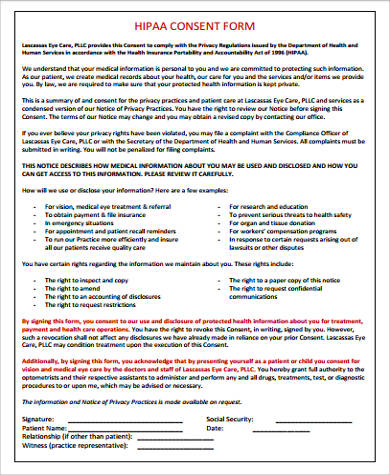 Hipaa Authorization Form Word