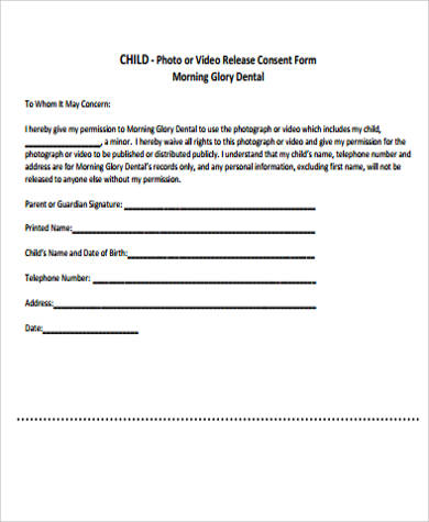 Photo Consent Form Sample   Examples In Word Pdf