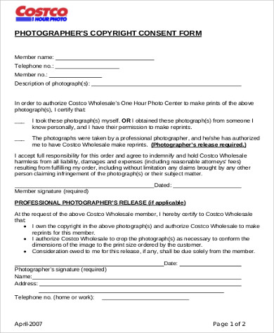 photographers copyright consent form pdf