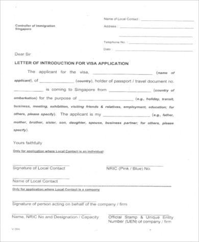 Sample invitation letter for visa 9 examples in word pdf visa application invitation letter stopboris Image collections