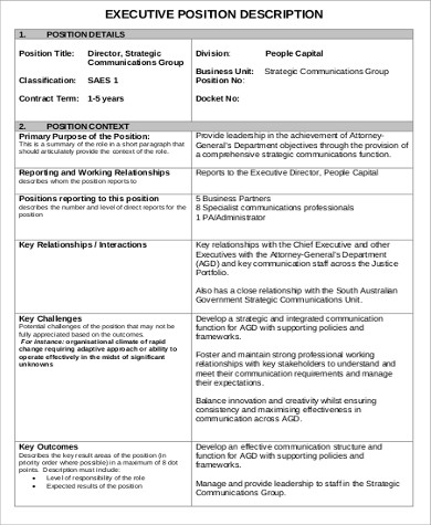 strategic communications director job description1
