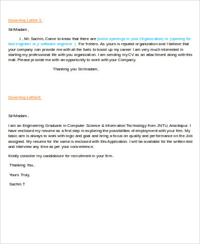 Sample Software Engineer Cover Letter 8 Examples In Word Pdf