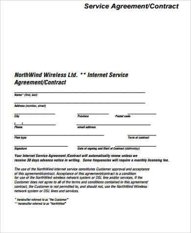 contract service agreement