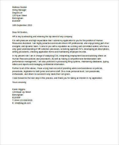 assistant human resources cover letter human resources cover letters