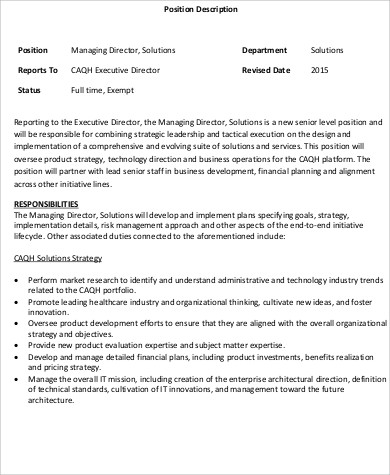 Area manager job description pdf