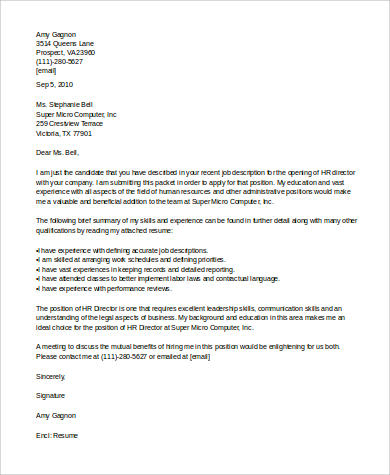 Human Resource Cover Letter Template from images.sampletemplates.com