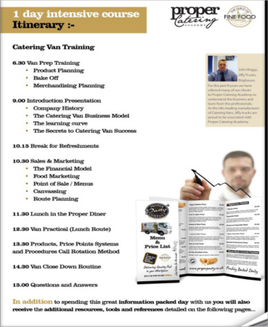 Sample Catering Business Plan - 10+ Examples in Word, PDF