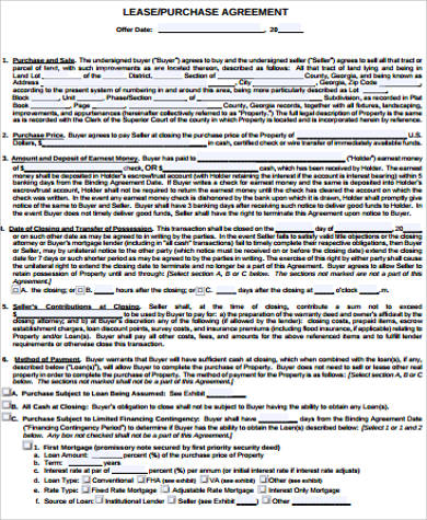 land lease purchase agreement pdf