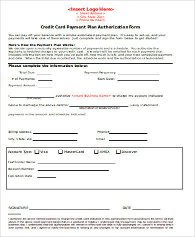 Payment Agreement Form Sample  Free Samples Examples Format