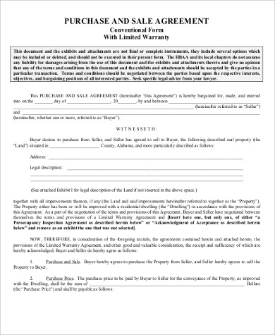 sale agreement forms