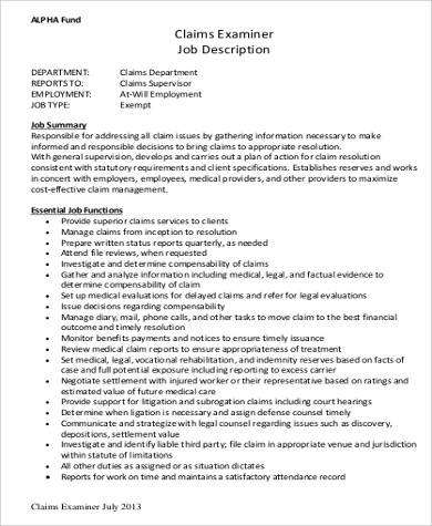Medical Examiner Job Description Sample - 9+ Examples In Word, Pdf
