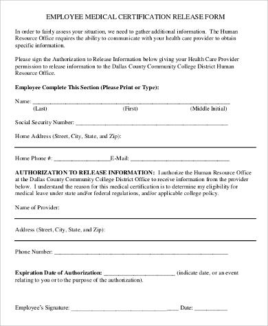 Sample Employee Release Form - 10+ Examples In Word, Pdf