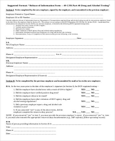 employee information release form