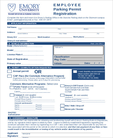 8 sample employee registration forms sample templates. Black Bedroom Furniture Sets. Home Design Ideas