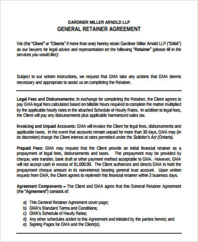 general retainer agreement