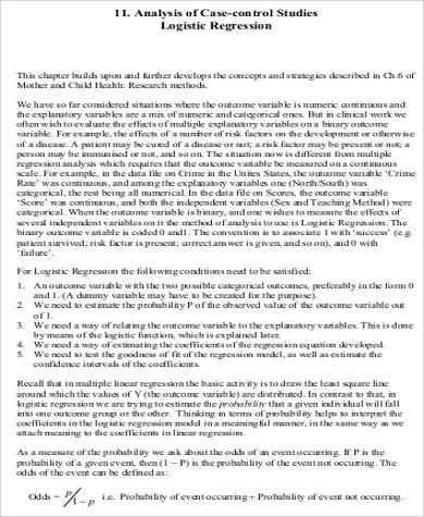 case control analysis pdf
