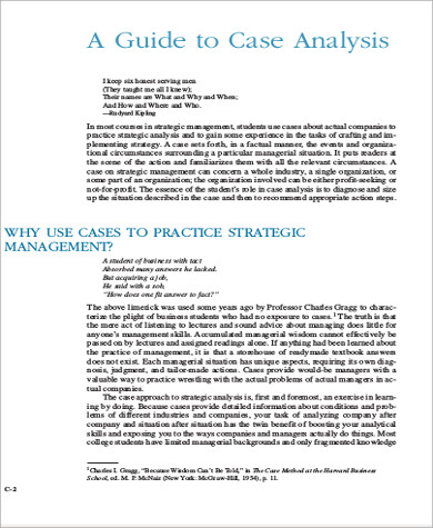 management case analysis