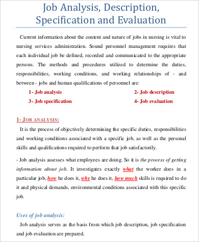 Sample Job Analysis. Management Trainee Appointment Letter Sample