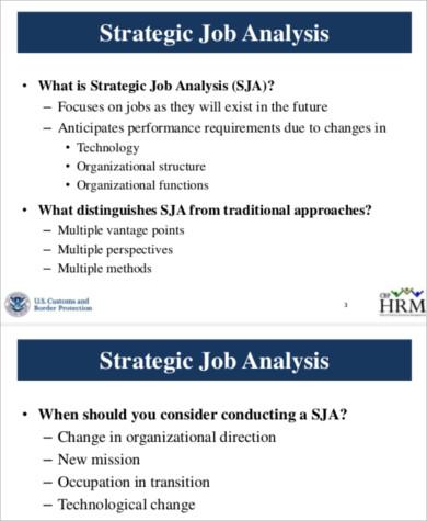 strategic job analysis