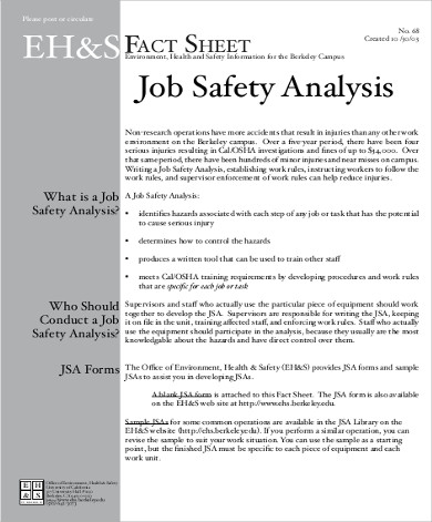 Job Analysis Sample  Free Sample Example Format Download