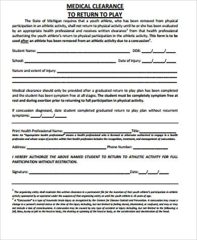 Return To Work Medical Form Doctor Note Templates Free Premium