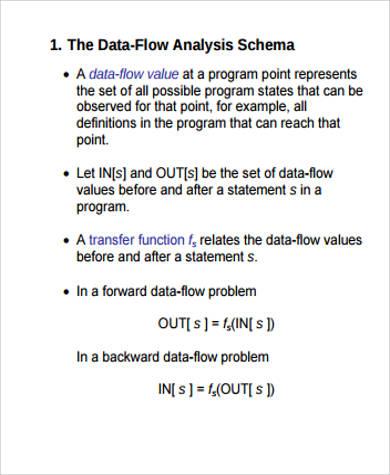 sample data flow analysis