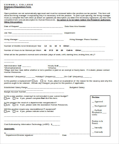 employee requisition form example1