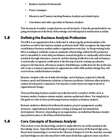 global business analysis sample
