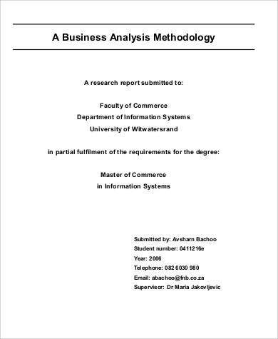 business analysis methodology