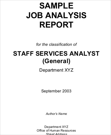 Sample Job Analysis   Examples In Word Pdf
