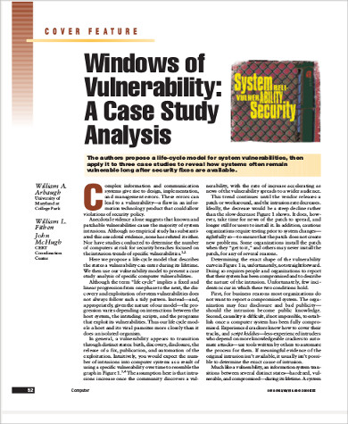 sample case study analysis