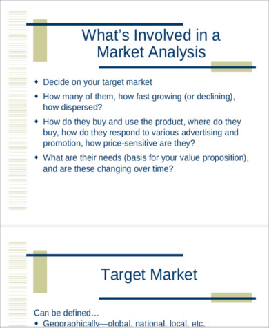 Sample Market Analysis. 5; 8 Sample Marketing Plan Market Analysis