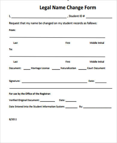 Sample Name Change Form 10 Examples In Word Pdf