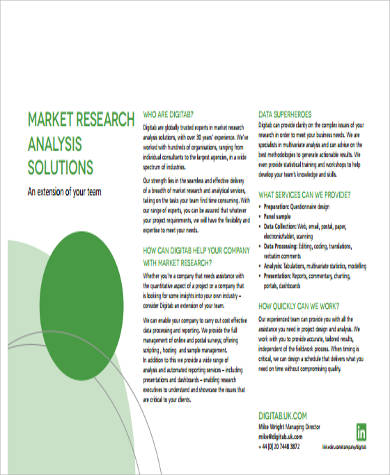 market research analysis example