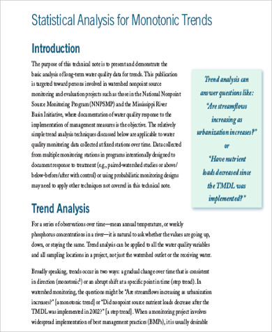statistical trend analysis