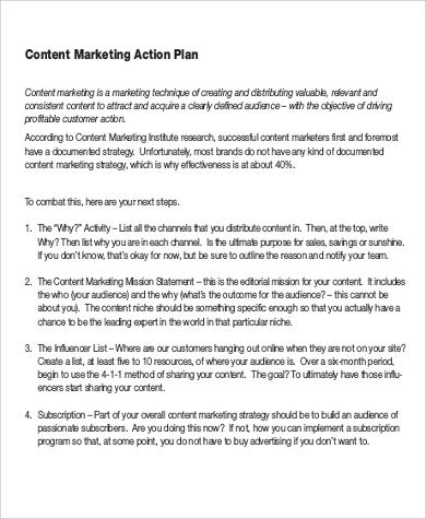 content marketing action plan pdf
