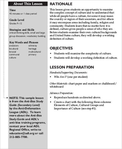 Sample Lesson Plan Objective - 6+ Examples in Word, PDF