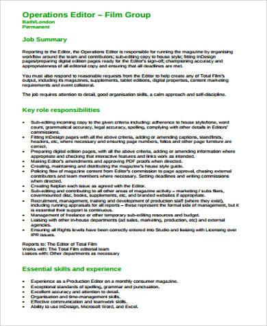 Assistant Editor | Film | Creative Skillsetfilm Editor Job