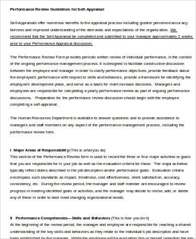 Employee Performance Review Sample - 8+ Examples In Word, Pdf